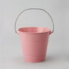 Metal Pail Bucket Pink