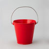 Metal Pail Bucket Red