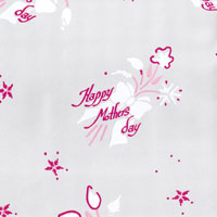 Mothers Day Flowers Pink Cello Roll 24 x 50