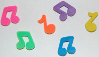 Musical Notes Erasers
