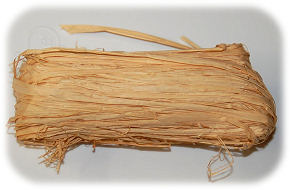 Natural Raffia Ribbon Pieces