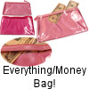 3 Part Pink or Hot Pink Everything Bags