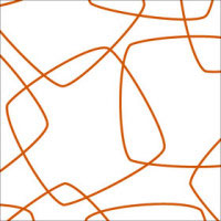 Orange Retro Squares Cellophane Roll 24 x 100