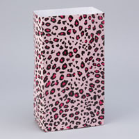 Party Paper Bags Pink Leopard
