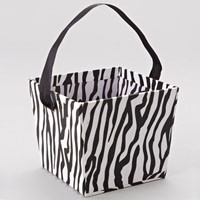 Paper Bucket with Ribbon Handle Zebra