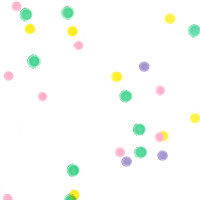 Pastel Dots Cellophane Roll 24 x 100