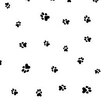 "Paw Prints Black Cellophane Basket Bags 20"" x 20"""