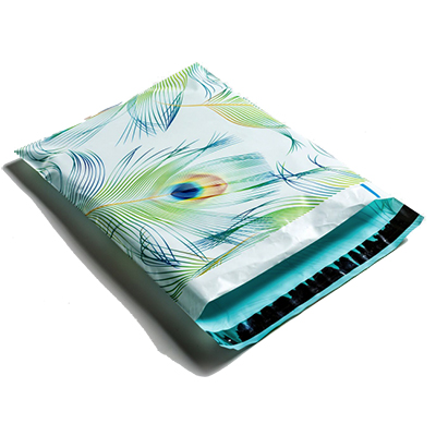Peacock Feathers Poly Mailers 10x13