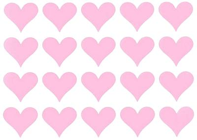 stickers Pink Hearts - Small