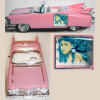 Pink Cadillac Car Clock