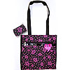 Crown Tote Pink and Black II