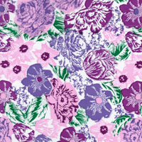 Pink and Purple Floral Design Cello Roll 24 x 50