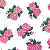 Pink Vintage Roses Cellophane Roll 30 x 100