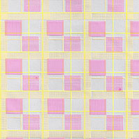Pink and Yellow Checks Cello Roll 24 x 50