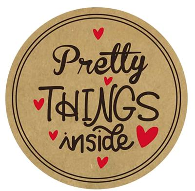 stickers Pretty Things Inside - Kraft