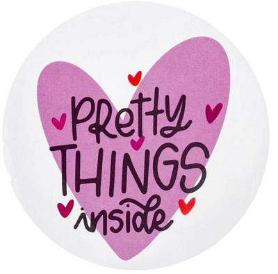 stickers Pretty Things Inside - Raspberry