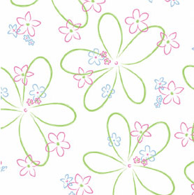 Pretty Flowers 4x9 inch Cellophane Bags