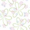 Pretty Retro Flowers 5 x 11 Cellophane Bags