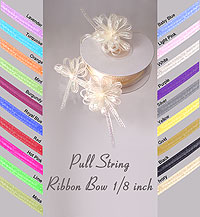 Pull String Ribbon Bow 1/8 inch