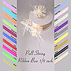 Pull String Ribbon Bow 1/8 inch