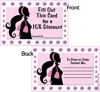15% Discount Punch Card