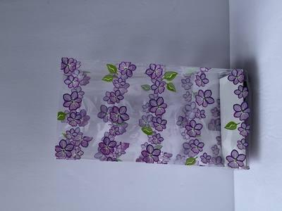 Purple Green Pansy Path 4 x 9 Cellophane Bags