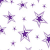 Purple Double Stars Self Sealing Cellophane Bags 9 x 12
