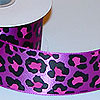 Purple and Pink Leopard Print Satin Ribbon