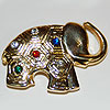 Quilted Elephant Pin