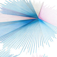Radial Pink Blue and Gold Cello Roll 24 x 50