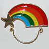 Pin Gold Star with Rainbow Trail Charm Holder