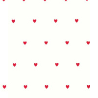 Red Baby Hearts Cellophane Roll 24 x 100