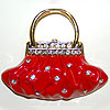 Classy Red Purse Pin