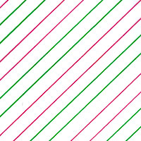 Red and Green Diagonal Stripes Cello Roll 24 x 50