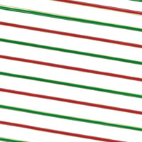 Red and Green  Stripes Cello Roll 24 x 50