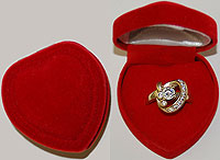 Boxes Red Heart Ring