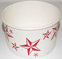 Container Red Star Paper Bowl
