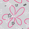 Retro Flowers Cellophane Roll 24 x 100