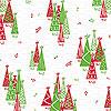 Rockin' Christmas Trees 2.5 x 6