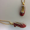 Faux Ruby Red Slipper Necklace