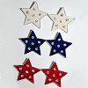 Earrings Stars and 6 Stones Clip On