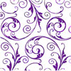 Sassy Swirls Purple Self Sealing Cellophane Bag 3 x 5