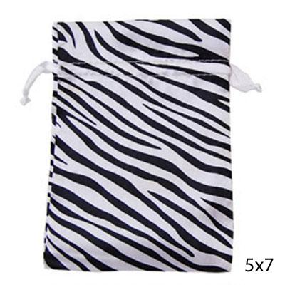 Zebra Satin Pouches