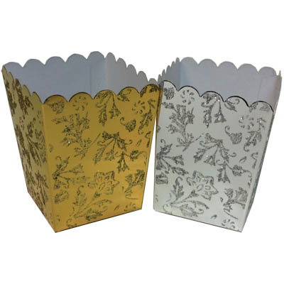 Scalloped Sparkling Boxes
