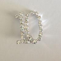 10 Number Rhinestone Pin