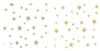silver and gold stars Combo Pack 4X9