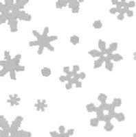 Silver Snowflakes Cellophane Roll 24 x 100