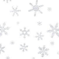 Silver Snowflakes Cello Roll 24 x 50