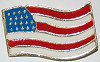 Pin Simple American Flag