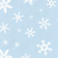 Snowflakes White 7 x 18 inch Cellophane Bags